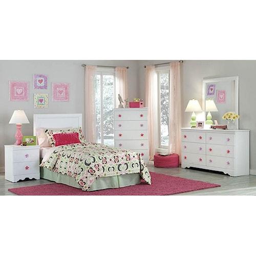 Kith Furniture Savannah Full Headboard & Bed Frame, Dresser, Mirror & Nightstand