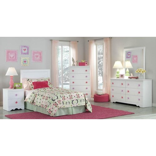 Kith Furniture Savannah Queen Headboard and Bed Frame, Dresser, Mirror & Nightstand