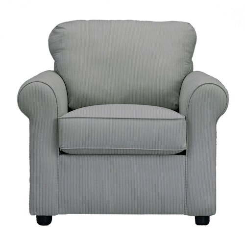 Elliston Place Brighton Upholstered Chair with Rolled Arms
