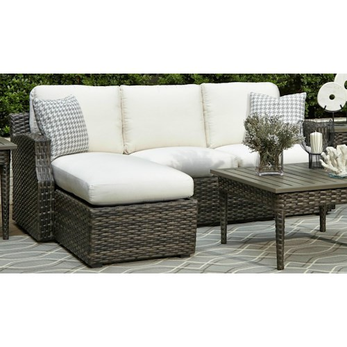 Elliston Place Tampa Outdoor Loveseat with Chaise