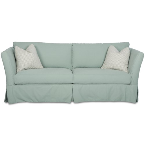 Elliston Place Alexis Traditional Stationary Sofa with Slipcover