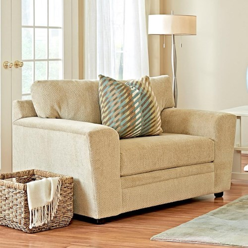 Elliston Place Ashburn Casual Oversized Chair with Track Arms