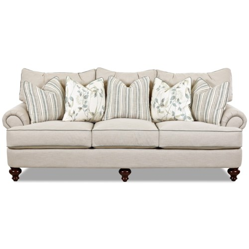 Elliston Place Ashworth Shabby Chic Down Blend Sofa
