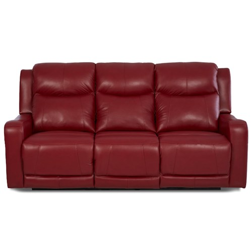 Klaussner Barnett Power Reclining Sofa with Power Adjustable Headrest and Lumbar