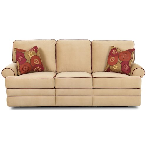 Elliston Place Belleview Transitional Dual-Reclining Sofa