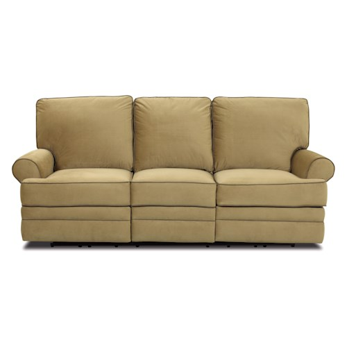 Klaussner Belleview Transitional Dual-Reclining Sofa