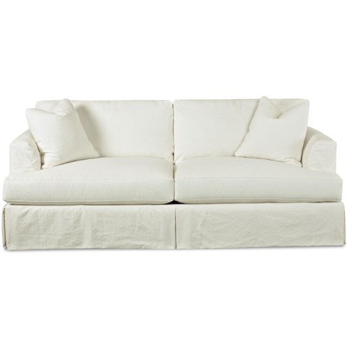 Elliston Place Bentley Slipcover Stationary Sofa with Flared Track Arms