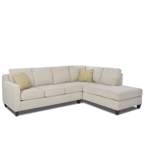 Elliston Place Bosco Contemporary 2-Piece Sectional with Right Arm Facing Sofa Chaise