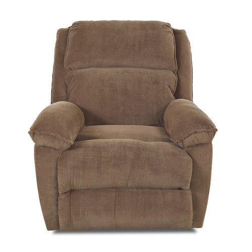 Elliston Place Brandt Casual Gliding Reclining Chair with Pillow Arms