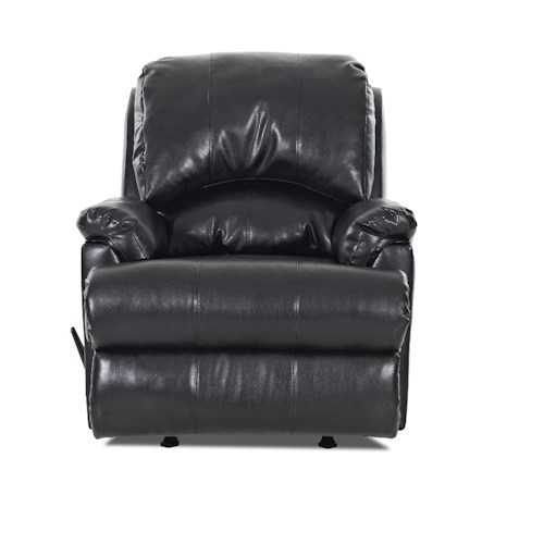 Elliston Place Bridgeport Casual Swivel Gliding Reclining Chair with Padded Chaise