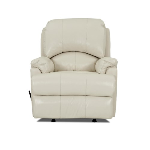 Klaussner Bridgeport Casual Swivel Reclining Rocking Chair with Padded Chaise