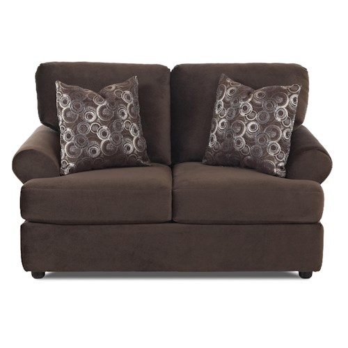Elliston Place Briggs Casual Loveseat with Rolled Arms