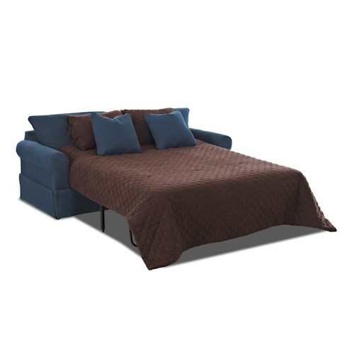 Klaussner Brook Skirted Dreamquest Queen Sleeper Sofa