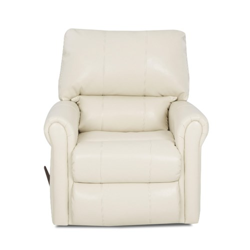 Klaussner Caddy Transitional Gliding Rocking Chair with Padded Chaise