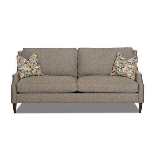 Klaussner Camryn Traditional Sofa with Nailhead Trim
