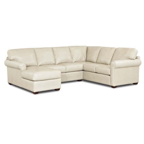 Elliston Place Canoy Transitional Sectional Sofa with LAF Chaise