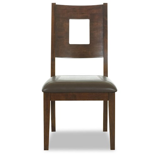 Morris Home Furnishings Edinburgh <b>Special Order</b> Square Back Dining Side Chair with Upholstered Seat