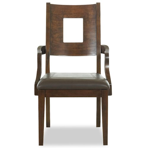 Morris Home Furnishings Edinburgh <b>Special Order</b> Square Back Dining Room Arm Chair with Upholstered Seat