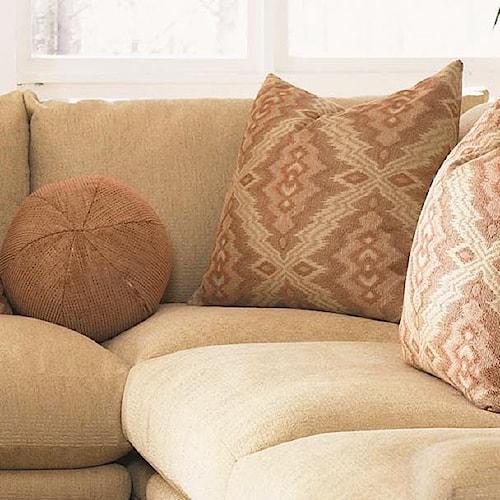 Klaussner Casa Mesa Casual Corner Sectional Piece with Loose Back Pillows