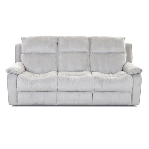 Elliston Place Castaway Casual Power Reclining Sofa with Bucket Seats