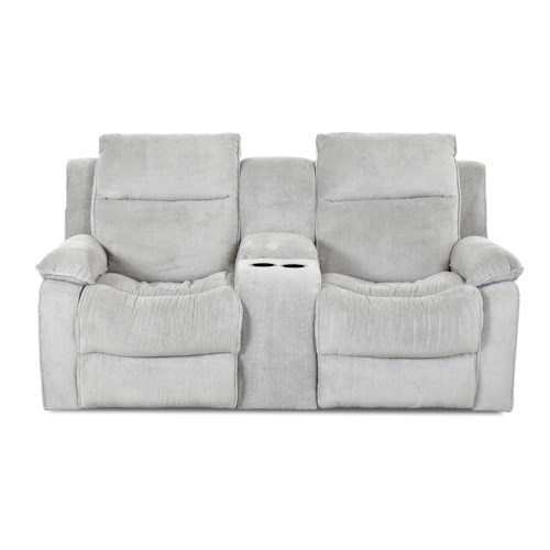 Simple Elegance Castaway Casual Power Reclining Loveseat with Console