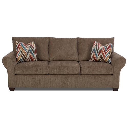 Klaussner Cedar Creek Casual Air Coil Sleeper Sofa