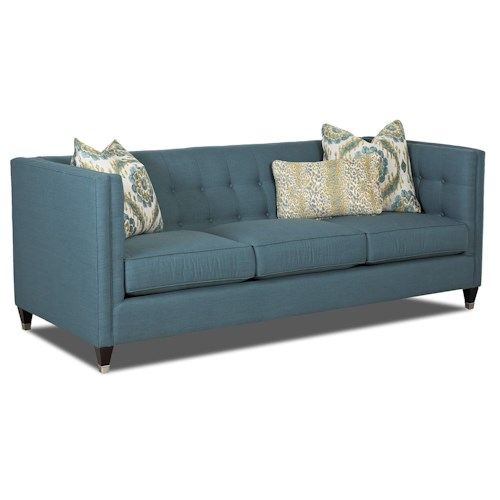 Elliston Place Celeste Contemporary Tuxedo Sofa with Tufted Back