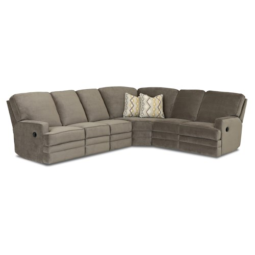 Elliston Place Chapman Casual Power Reclining Sectional Sofa
