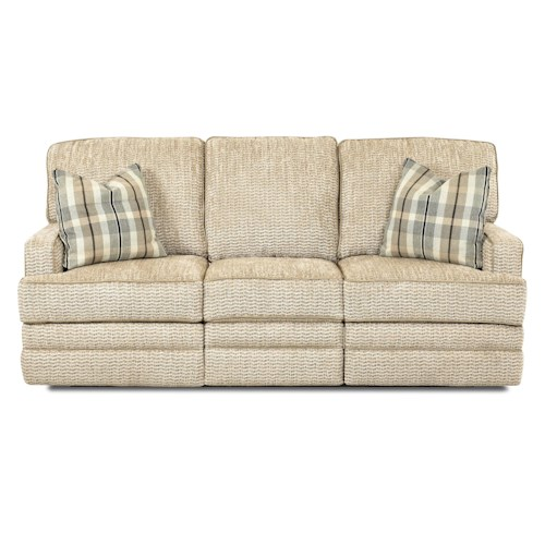 Elliston Place Chapman Casual Power Reclining Sofa with Throw Pillows