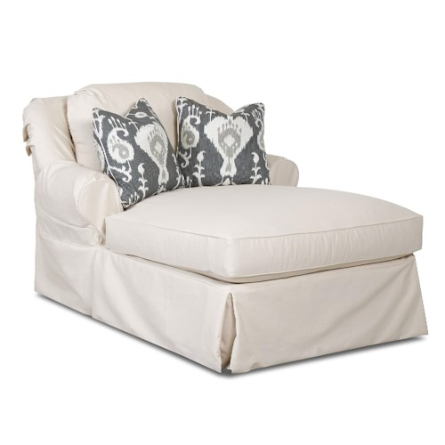 Elliston Place Charleston Chaise Lounge with 2 Accent Pillows