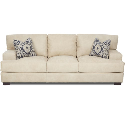 Elliston Place Clarissa Casual Sofa with Wide Track Arms