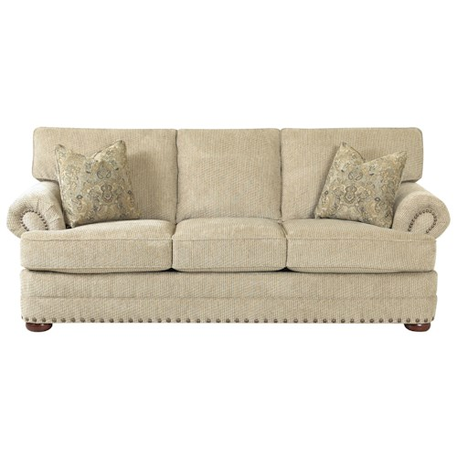Simple Elegance San Padre Traditional Styled Sofa with Nail Head Accent Trim