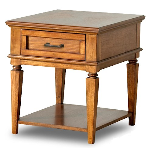 Morris Home Furnishings Concord Transitional End Table with Drawer and Shelf