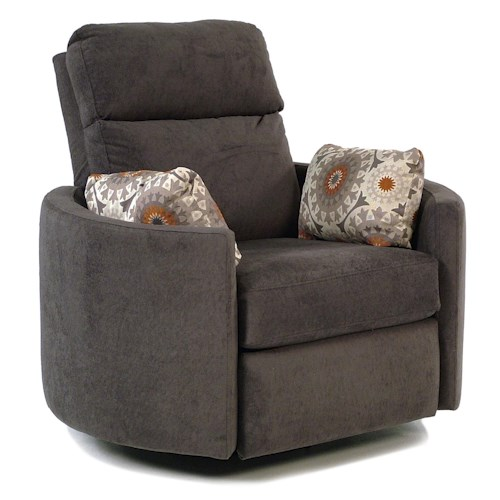 Simple Elegance Suri Contemporary Power Reclining Swivel Chair