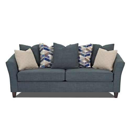 Klaussner Culpepper Elegant Sofa with Tuxedo Arms
