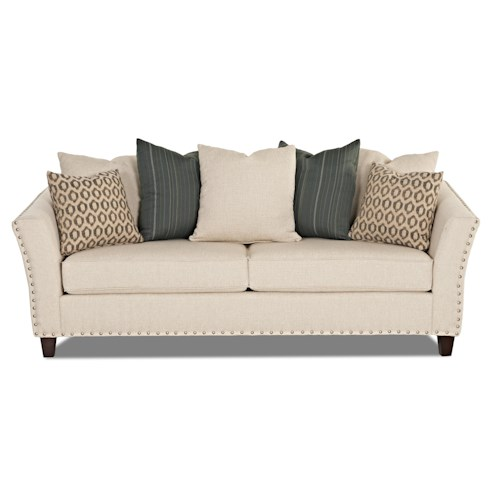 Klaussner Culpepper Contemporary Sofa with Nailhead Trim