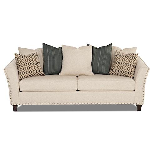 Elliston Place Culpepper Contemporary Sofa with Nailhead Trim