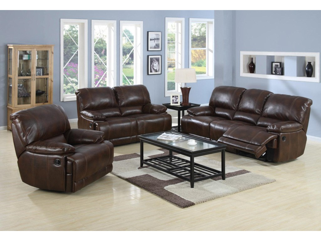 Shown with Coordinating Reclining Sofa and Reclining Love Seat
