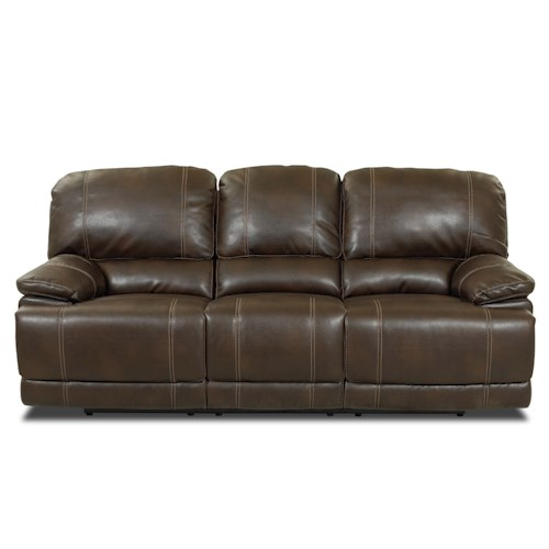 Klaussner International Darius Double Reclining Unit Leather Reclining Sofa