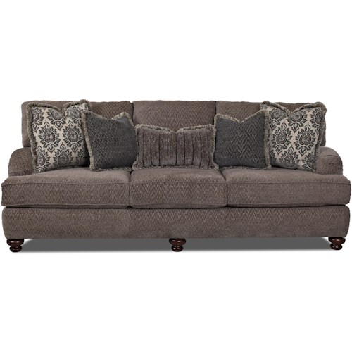 Belfort Basics Audrey Traditional Sofa with Turned Feet