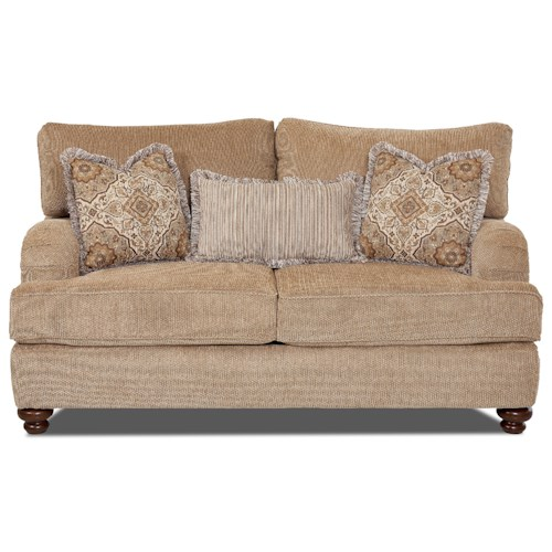 Elliston Place Declan  Traditional Loveseat with English Arms
