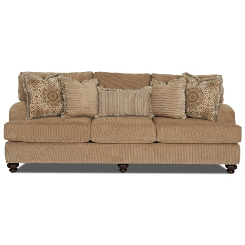 Elliston Place Declan  Traditional Sofa with Turned Feet