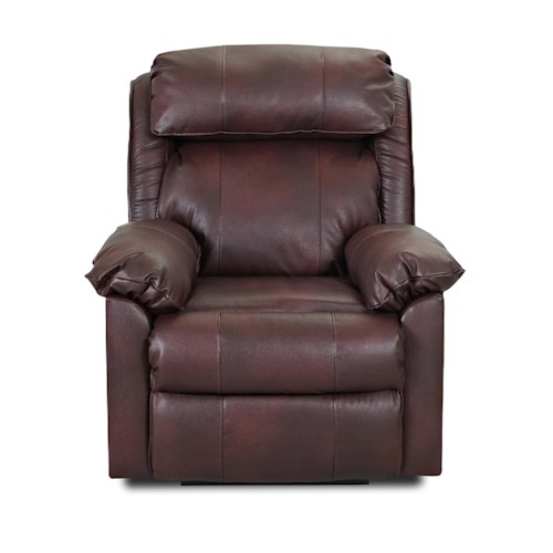 Elliston Place Destin  Casual Manual Reclining Chair with Pillow Arms and Neck Support