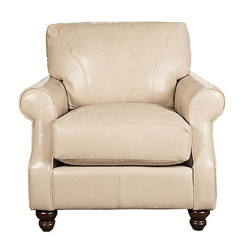 Elliston Place Dixie 100% Leather Chair