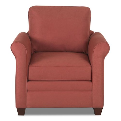 Klaussner Dopler Upholstered Chair with Rolled Arms