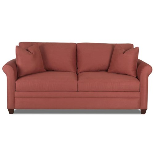 Klaussner Dopler Sofa with Rolled Arms