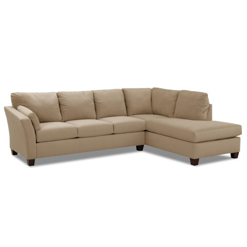 Elliston Place Drew Two Piece Sectional Sofa with Chaise