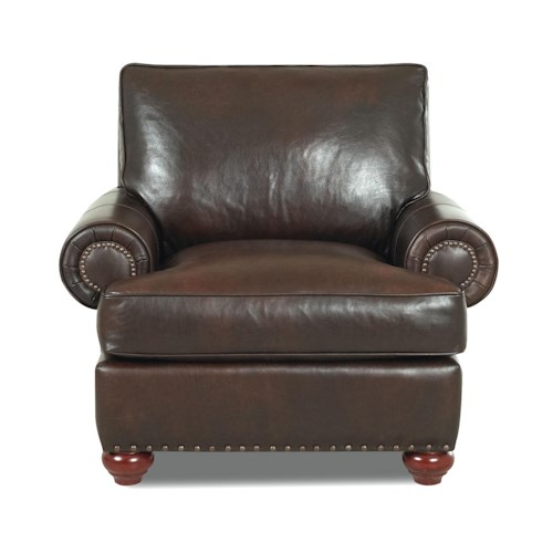 Elliston Place Ellington  Traditional Chair with Nail Head Trim