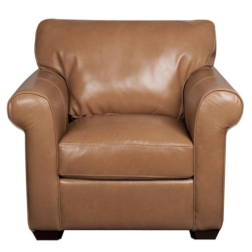 Elliston Place Eloise 100% Leather Chair