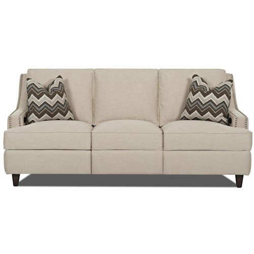 Klaussner Empress Transitional Power Hybrid Sofa